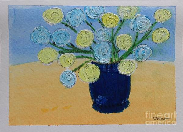 Painting - Yellow And Blue by Kim Nelson
