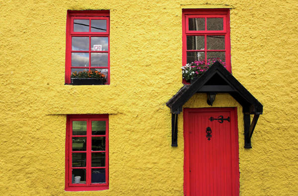 Cottage Style Wall Art - Photograph - Yellow  And Red House by Kelvinjay