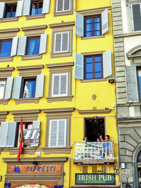 Photograph - Yellow At Piazza San Giovanni In Florence by John Rizzuto