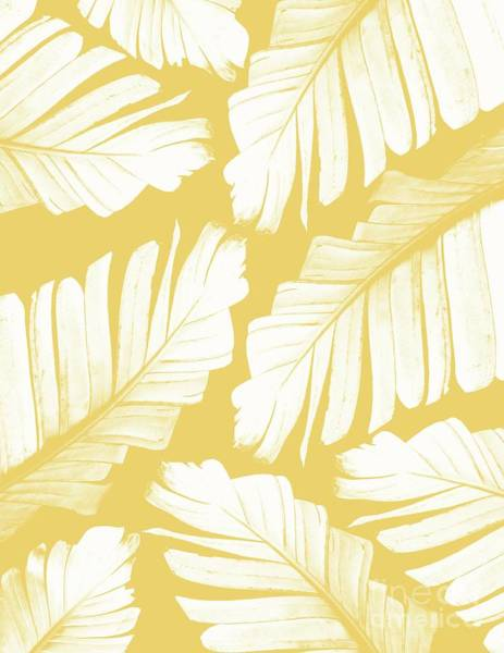Banana Leaf Mixed Media - Yellow Banana Leaves Dream #1 #tropical #decor #art by Anitas and Bellas Art