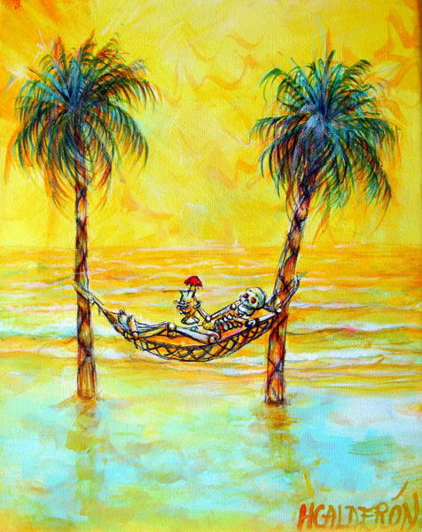 Wall Art - Painting - Yellow Beach Dream by Heather Calderon