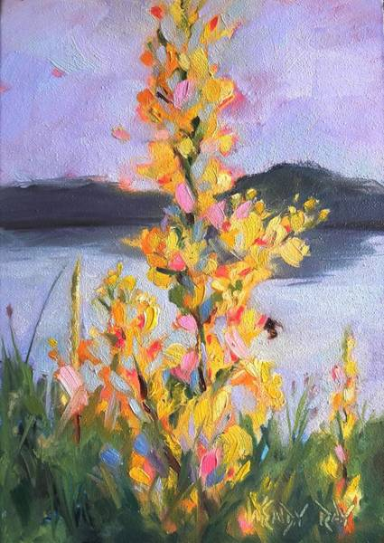 Painting - Yellow Blaze by Wendy Ray