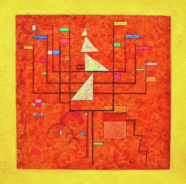 Wall Art - Painting - Yellow Border - Digital Remastered Edition by Wassily Kandinsky