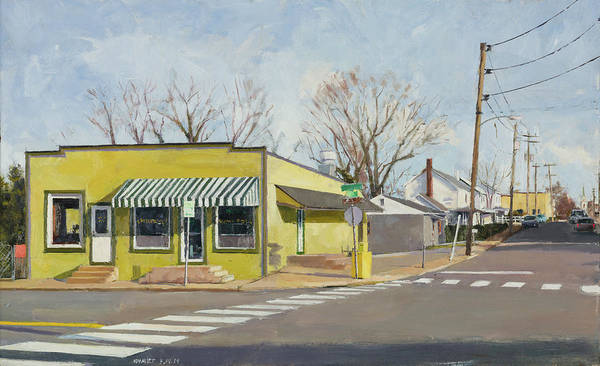 Wall Art - Painting - Yellow Cafe Rose Hill Drive Marie Bette by Edward Thomas