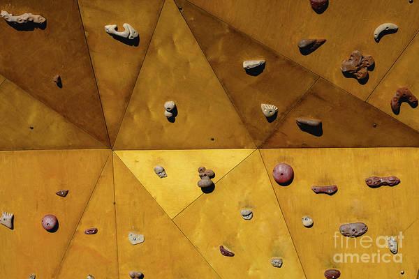 Photograph - Yellow Climbing Wall In The Open Air Sun. by Joaquin Corbalan