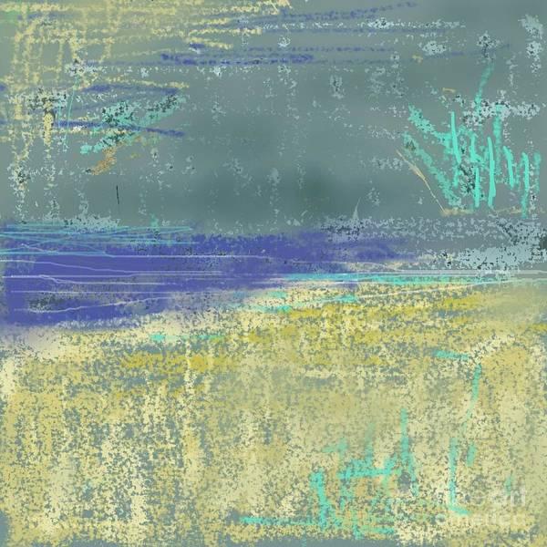 Wall Art - Mixed Media - Yellow Coast - Abstract Landscape By Vesna Antic by Vesna Antic
