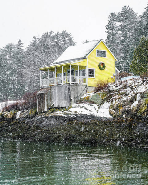 Wall Art - Photograph - Yellow Cottage In The Snow by Benjamin Williamson