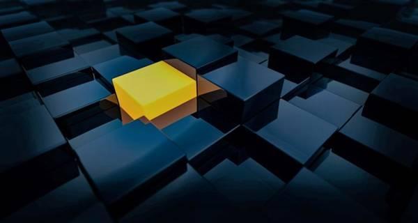 Mood Digital Art - Yellow Cube by ArtMarketJapan