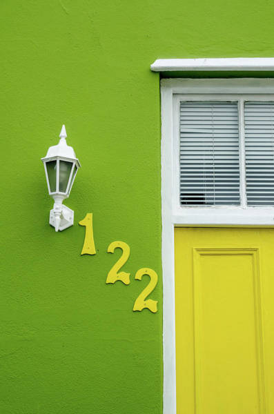 Yellow Door And Green Wall In Bo-kaap Art Print