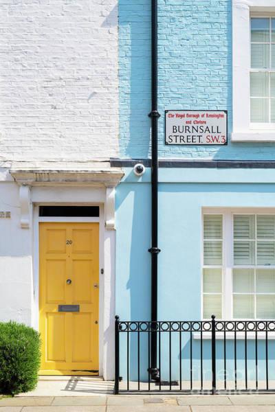 Wall Art - Photograph - Yellow Door Burnsall Street Chelsea by Tim Gainey