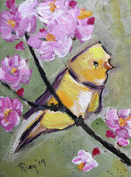 Wall Art - Painting - Yellow Fellow by Roxy Rich