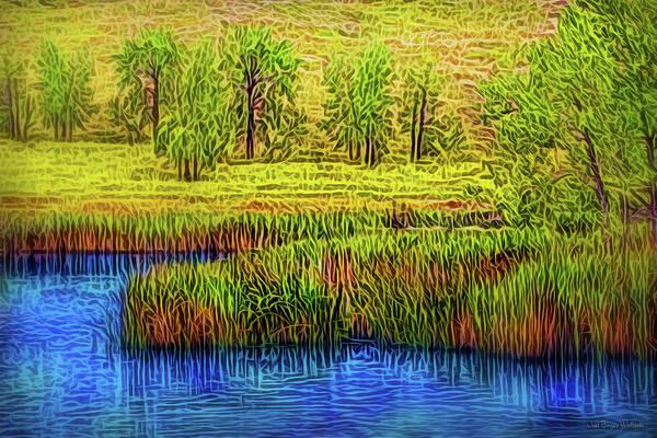 Digital Art - Yellow Field Flow by Joel Bruce Wallach