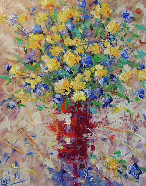 Painting - Yellow Flowers by Frederic Payet