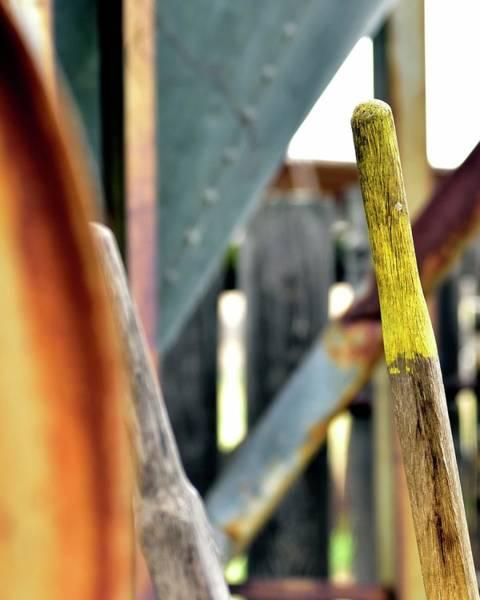 Photograph - Yellow Handle Wheel Barrow by Jerry Sodorff