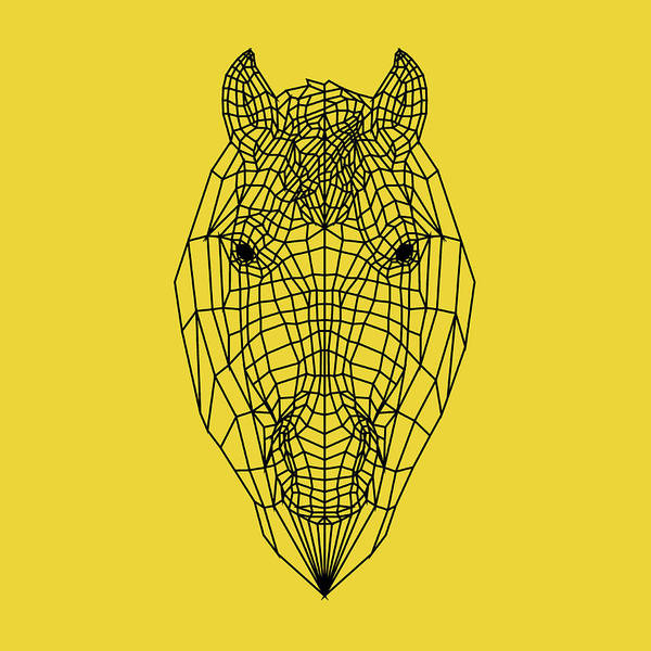 Wall Art - Digital Art - Yellow Horse by Naxart Studio