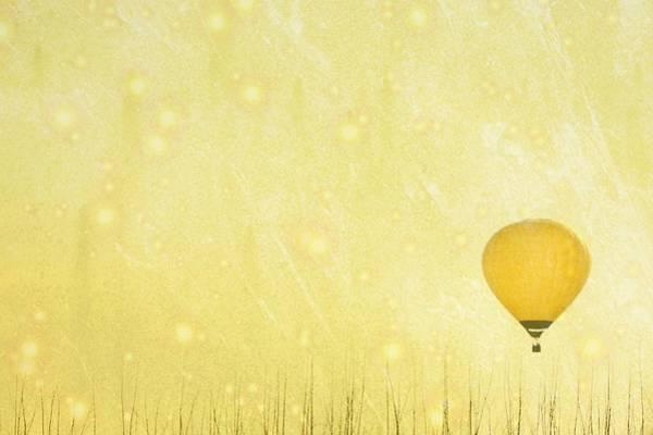 Ljubljana Wall Art - Photograph - Yellow Hot Air Balloon by Susan.k.
