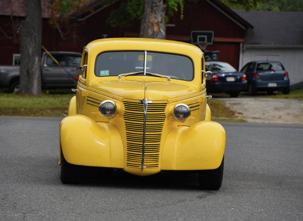 Wall Art - Photograph - Yellow Hot Rod Has Arrived by Mike Martin