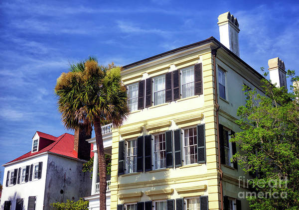 Photograph - Yellow House On East Bay Street In Charleston by John Rizzuto
