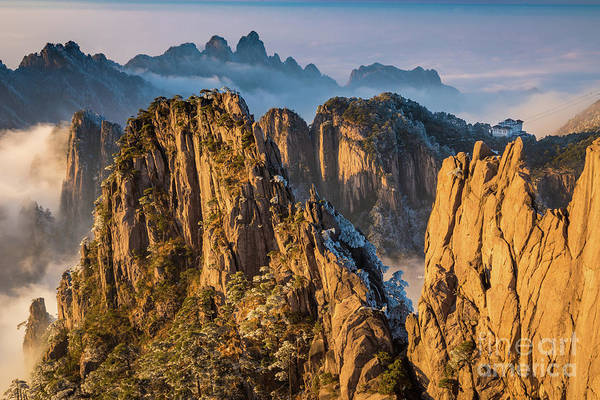 Wall Art - Photograph - Yellow Huangshan by Inge Johnsson