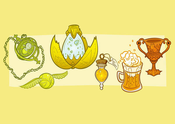 Wall Art - Drawing - Yellow Huevember by Marta Valdonio