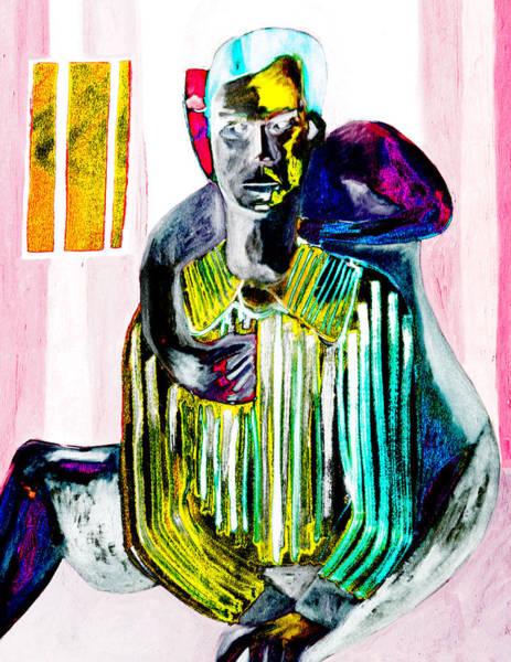 Digital Art - Yellow Impotent Man by Artist Dot