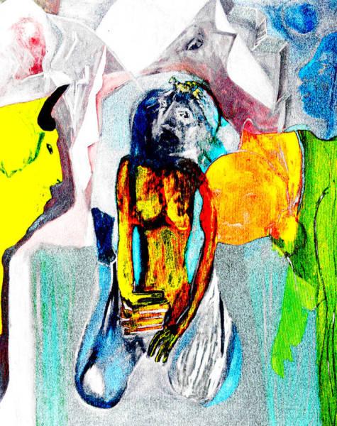 Digital Art - Yellow Invaders by Artist Dot
