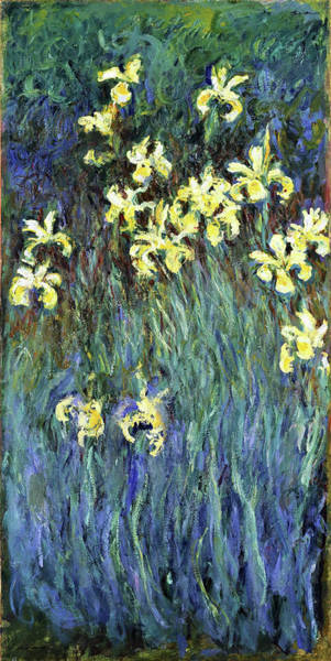 Wall Art - Painting - Yellow Irises - Digital Remastered Edition by Claude Monet