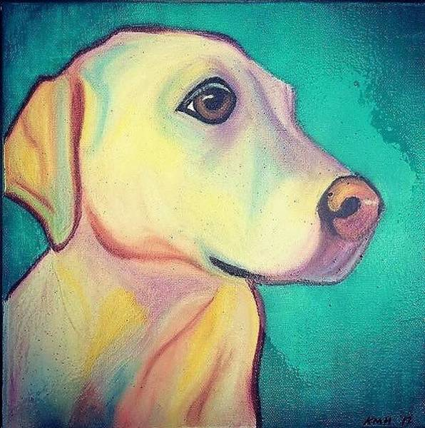 Yellow Lab Mixed Media - Yellow Lab by Kelly Hogue