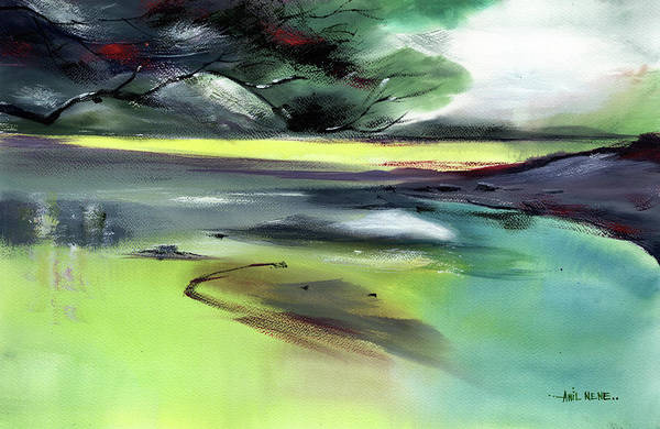 Painting - Yellow Lake by Anil Nene