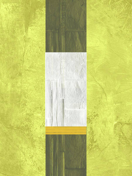 Wall Art - Painting - Yellow Mist II by Naxart Studio