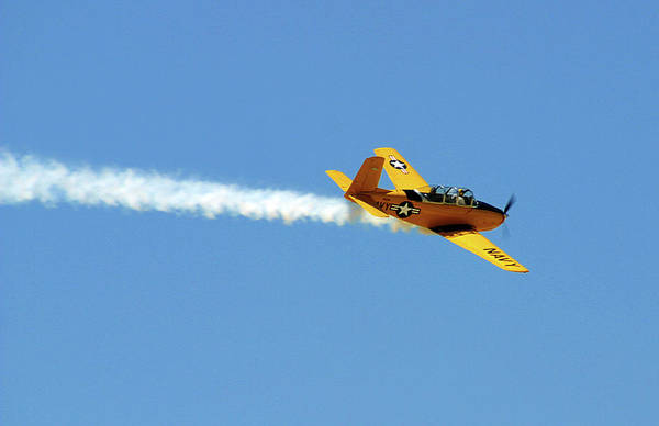 Photograph - Yellow Navy Plane by Anthony Jones