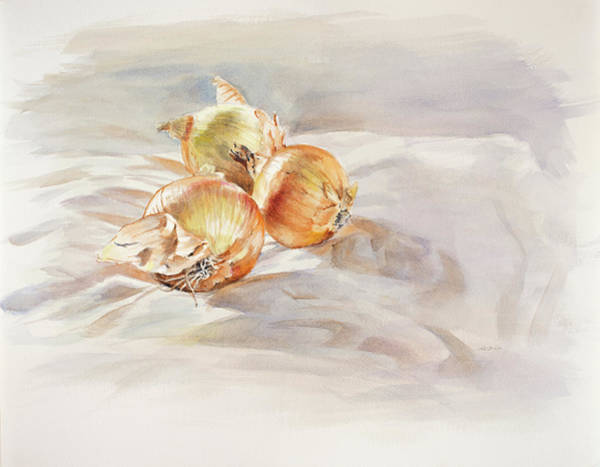 Painting - Yellow Onions by Christopher Reid