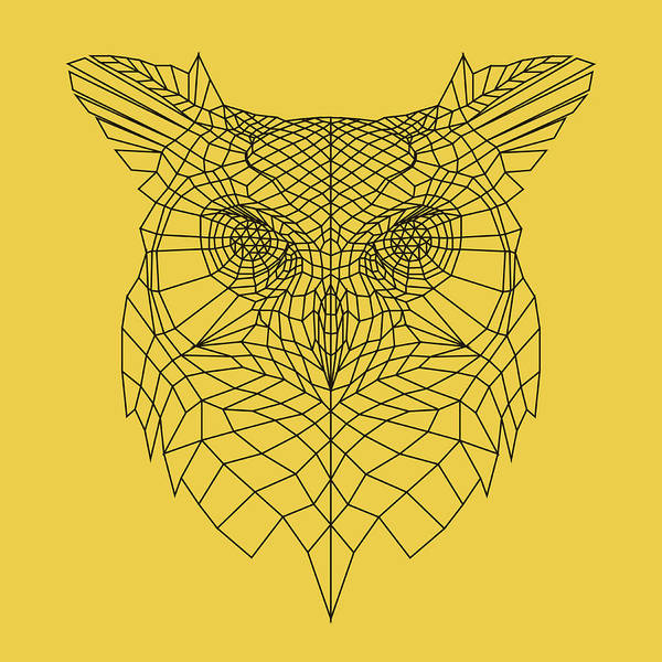Bobcat Wall Art - Digital Art - Yellow Owl by Naxart Studio