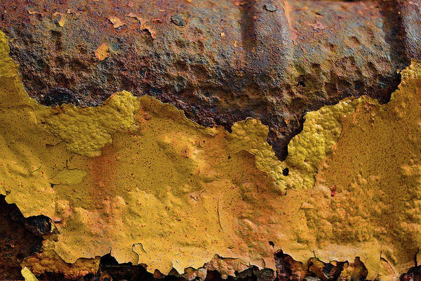Photograph - Yellow Paint by WB Johnston