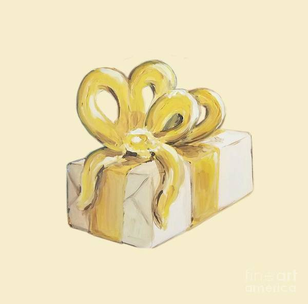 Painting - Yellow Present by Maria Langgle