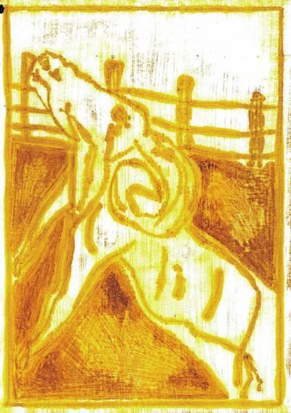 Painting - Yellow Ram by Artist Dot