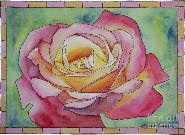 Painting - Yellow-rose Rose by Ralph F Wilson