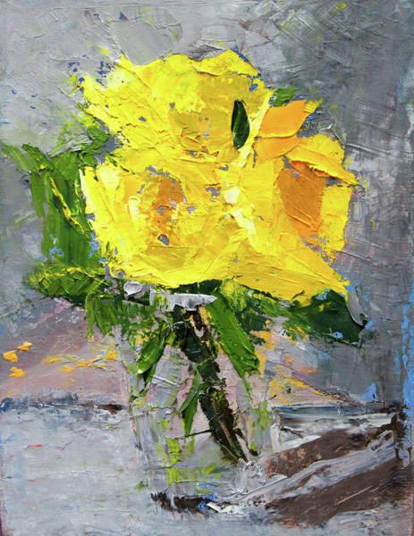 Wall Art - Painting - Yellow Roses by Nancy Merkle