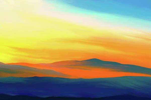 Digital Art - Yellow Sky by Tanja Udelhofen