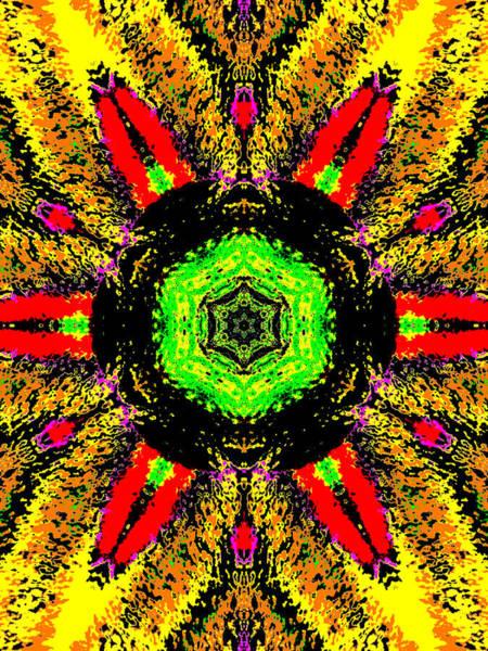Digital Art - Yellow Sunflower 1b by Artist Dot