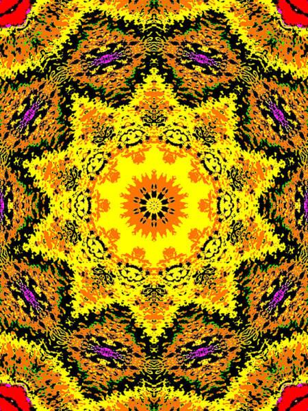 Digital Art - Yellow Sunflower 1c by Artist Dot