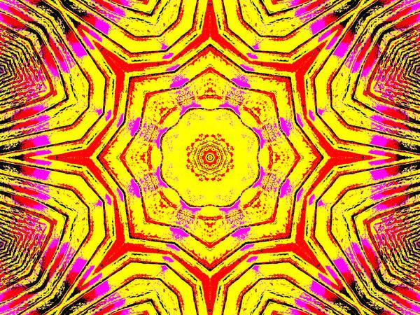 Digital Art - Yellow Sunflower 4b by Artist Dot
