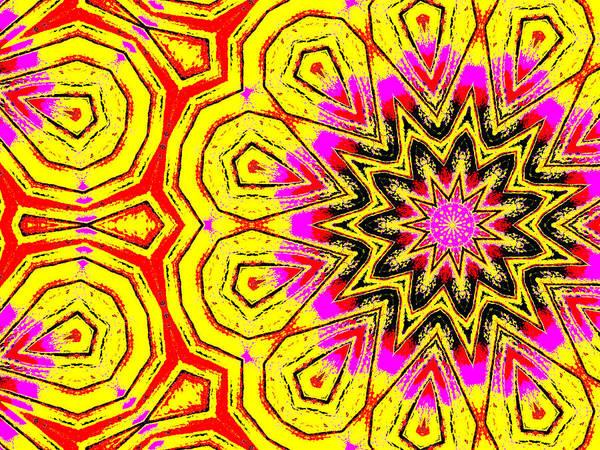 Digital Art - Yellow Sunflower 4c by Artist Dot