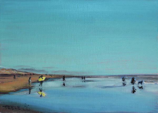 Painting - Yellow Surfboard by Trina Teele