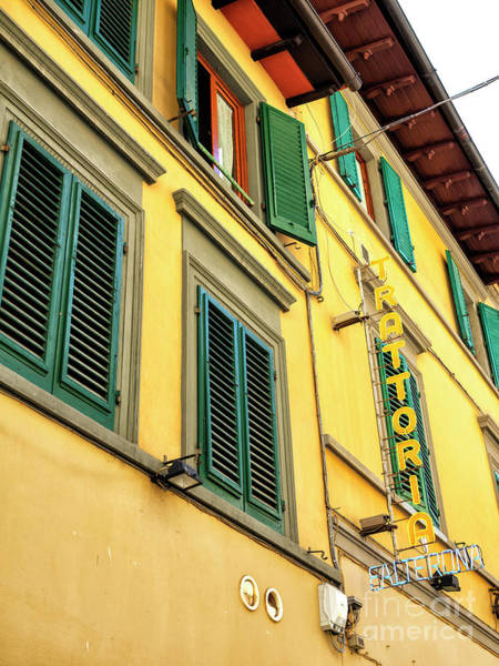 Photograph - Yellow Trattoria In Florence by John Rizzuto