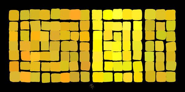 Digital Art - Yellow Triptych by Attila Meszlenyi