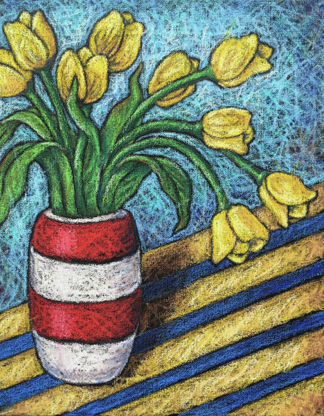 Wall Art - Painting - Yellow Tulips by Karla Beatty