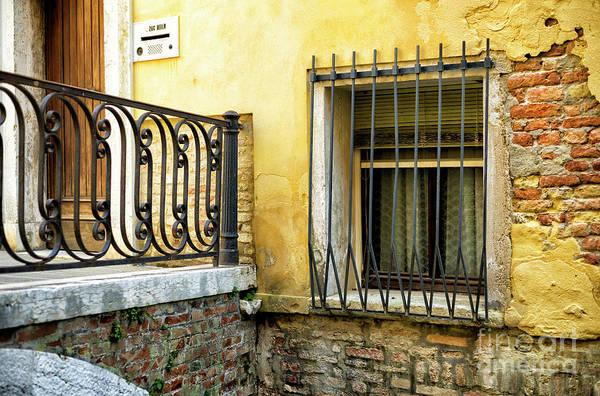 Photograph - Yellow Wall In Venice by John Rizzuto