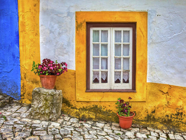 Photograph - Yellow Window Of Obidos by David Letts