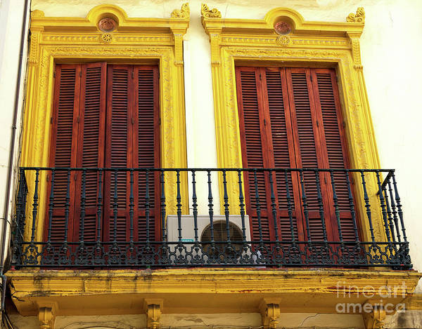 Photograph - Yellow Windows In Seville by John Rizzuto